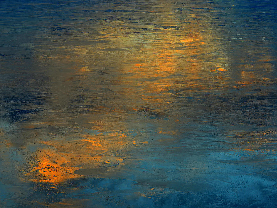 Ice Photograph - A Gift Of Gold by Dennis James