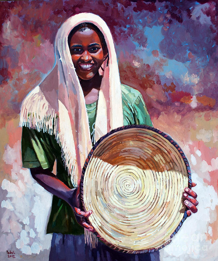 A Girl From The Countryside Painting by Mohamed Fadul