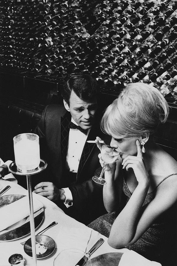 Architecture Photograph - A Glamorous 1960s Couple Dining by Horn & Griner