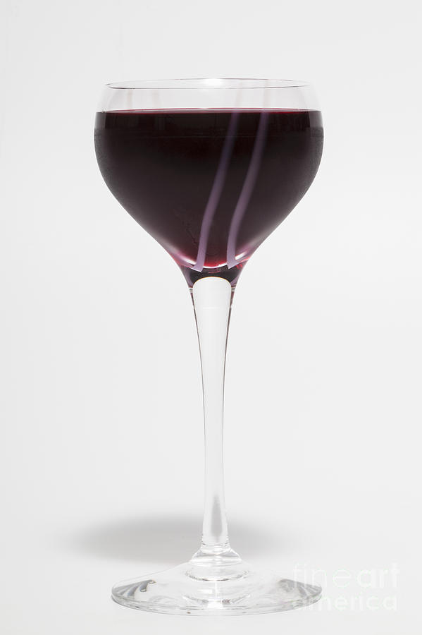 Glass Photograph - A Glass Of Red Wine by Diane Macdonald