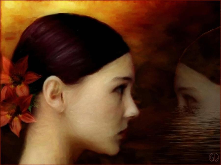 Woman Digital Art - A Glimpse Inside by Gun Legler
