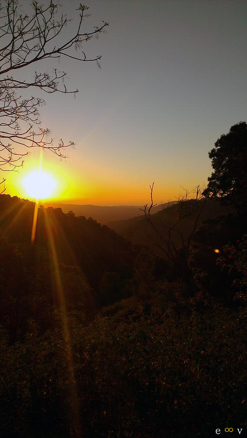 Mt Nebo Photograph - A Glorious Sunrise Over Nebo by Edwin Vincent