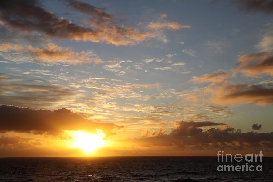 Sunrise Photograph - A Golden Sunrise - Singer Island by Christiane Schulze Art And Photography