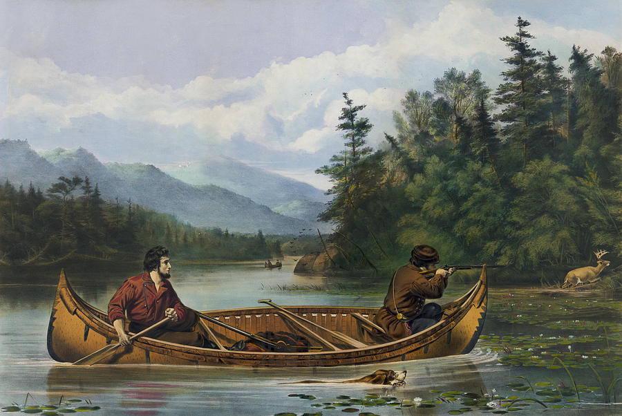 1863 Painting - A Good Chance Circa 1863 by Aged Pixel