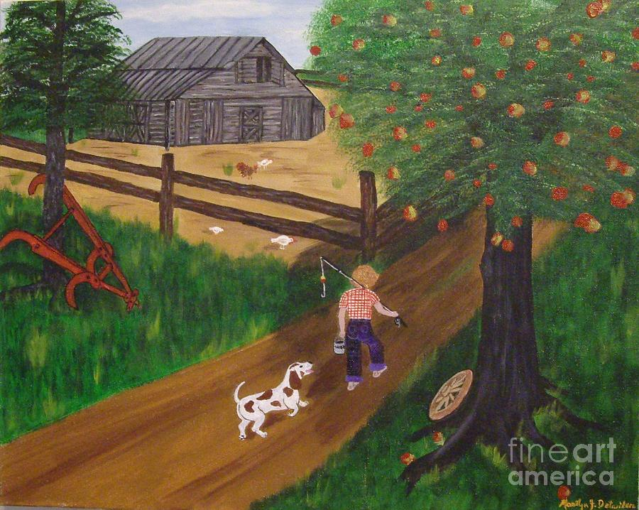 Barns Painting - A Good Day For Fishing by Marilyn Detwiler