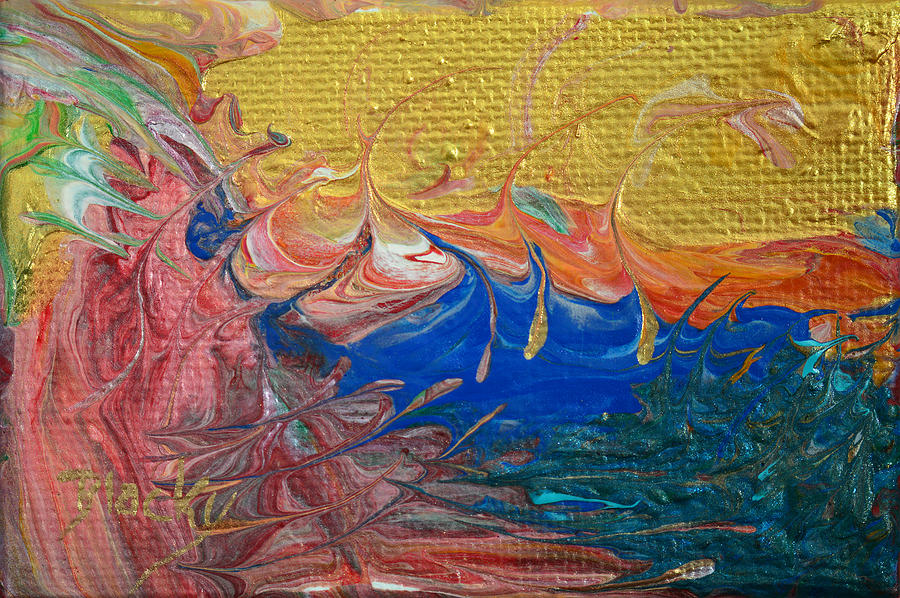 Colorful Abstract Painting - A Good Day For Sailing by Donna Blackhall