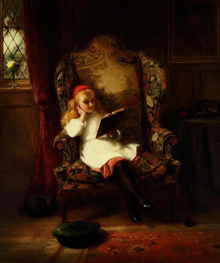 A Good Read George Bernard Oneill Painting