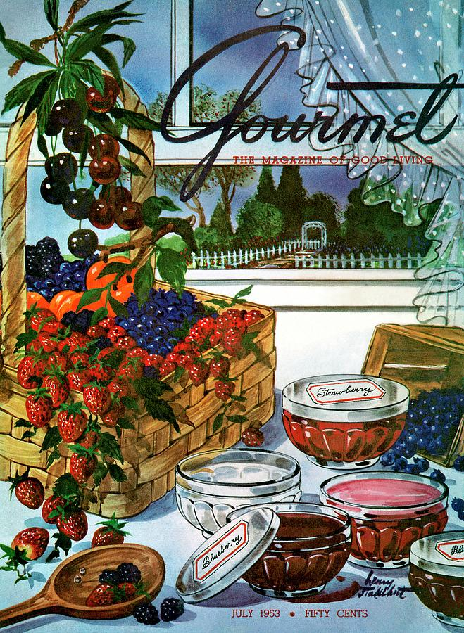 A Gourmet Cover Of A Fruit Basket Photograph by Henry Stahlhut