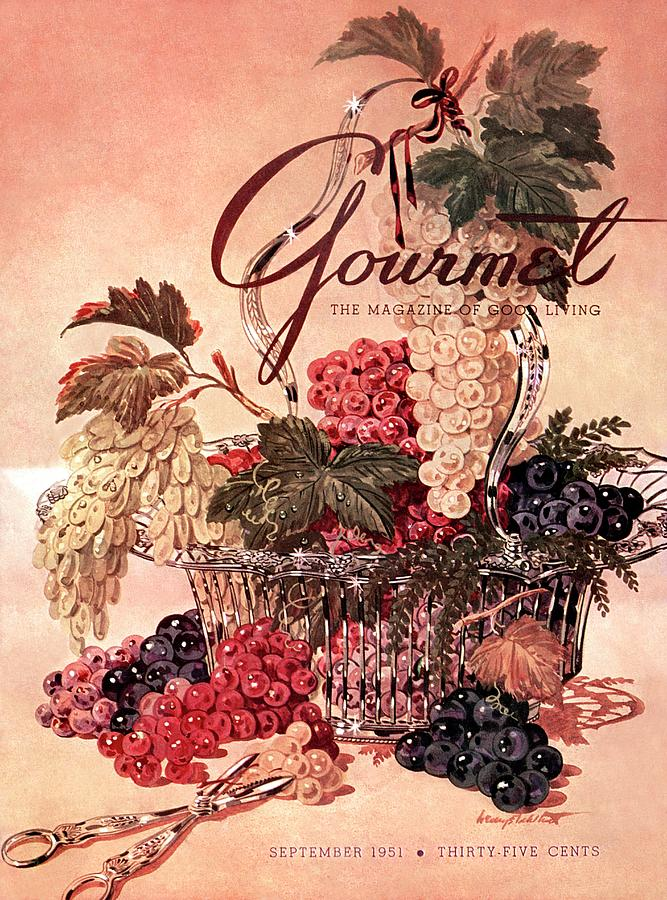 A Gourmet Cover Of Grapes Photograph by Henry Stahlhut