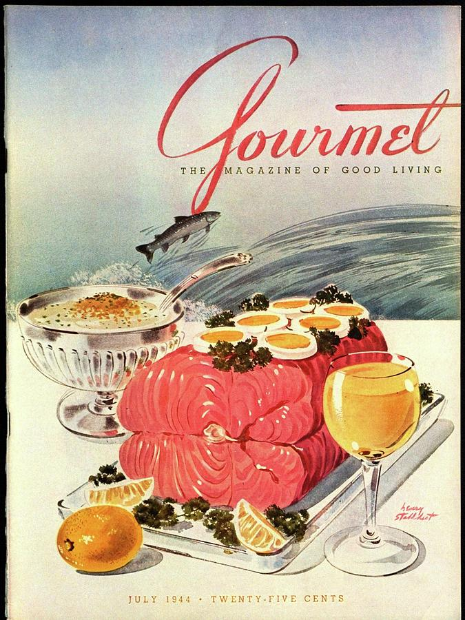 A Gourmet Cover Of Poached Salmon Photograph by Henry Stahlhut