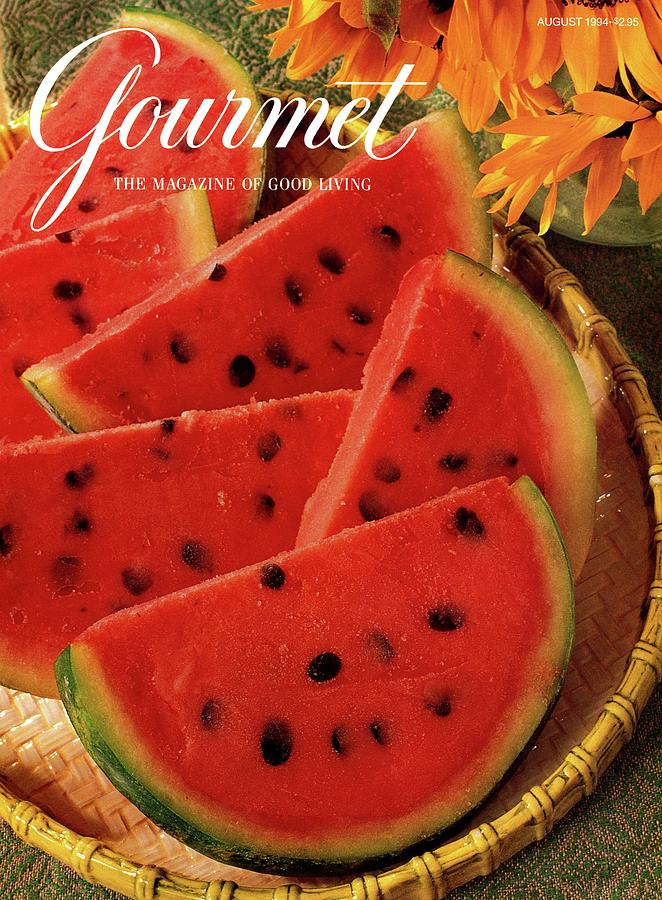 A Gourmet Cover Of Watermelon Sorbet Photograph by Romulo Yanes