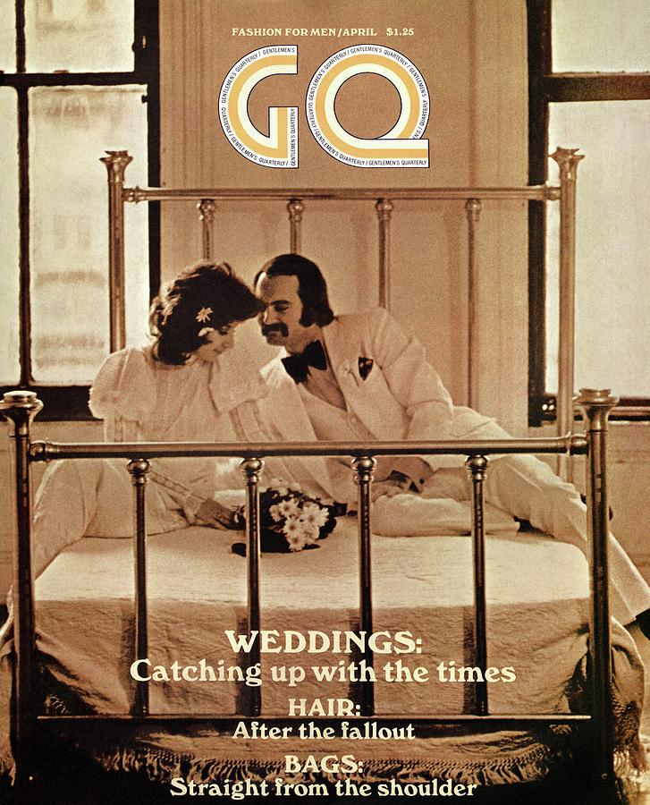 A Gq Cover Of A Bridal Couple Photograph by Arthur Elgort