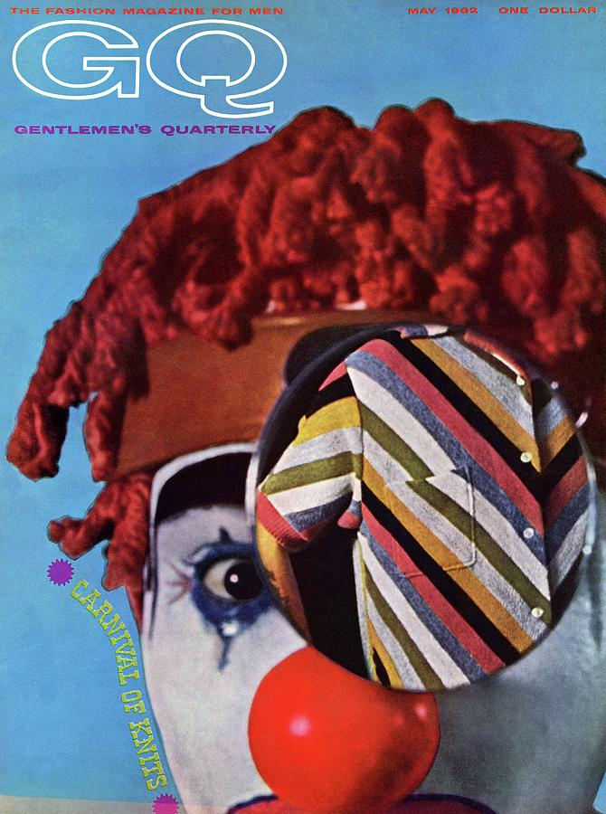 A Gq Cover Of A Clown And A Jacket Photograph by Chadwick Hall