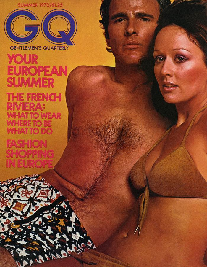 Fashion Photograph - A Gq Cover Of A Couple In Bathing Suits by Stephen Ladner