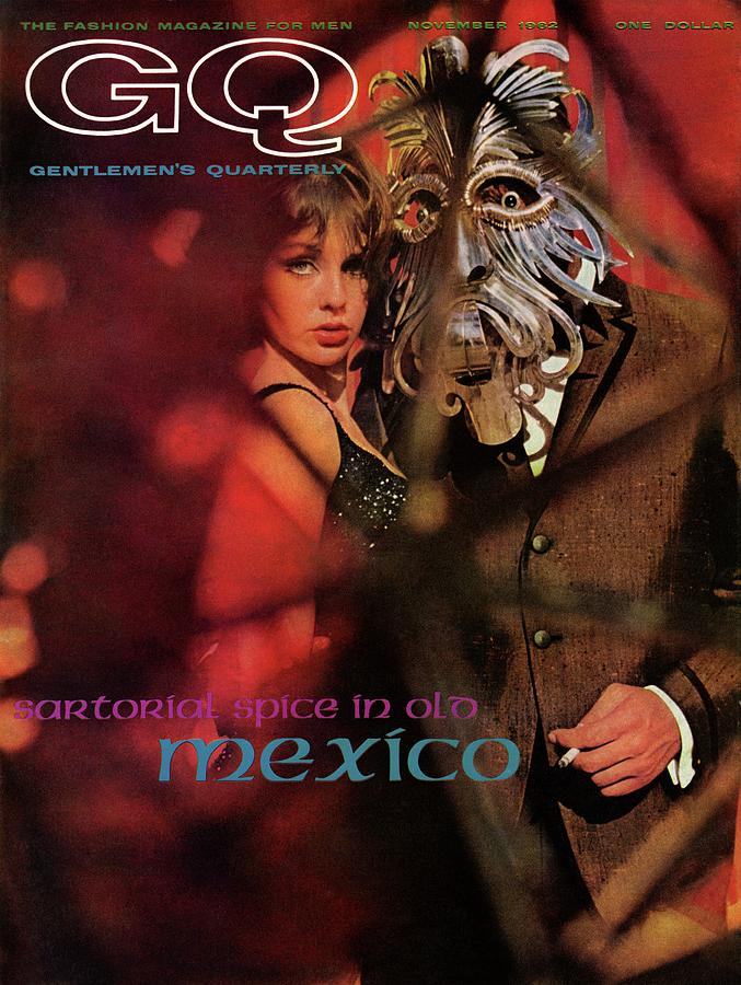 A Gq Cover Of A Model Wearing A Mask Photograph by Chadwick Hall