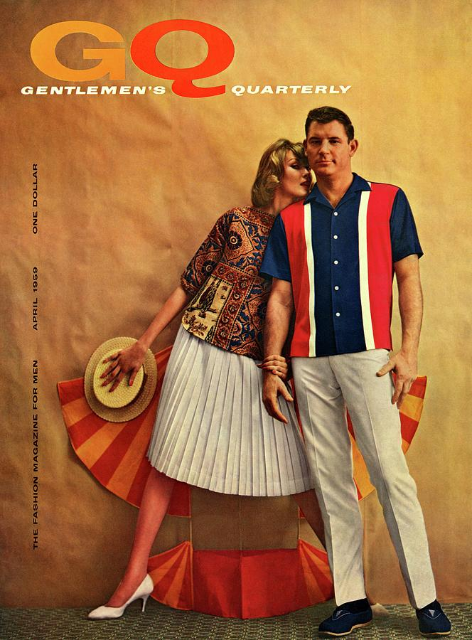 A Gq Cover Of Male And Female Models Photograph by Melvin Sokolsky