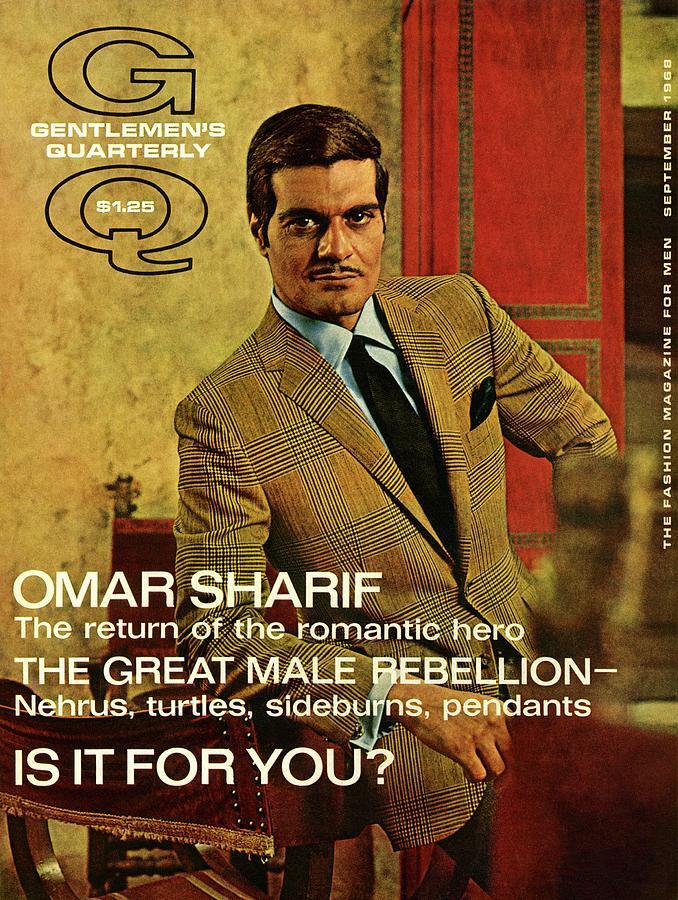 A Gq Cover Of Omar Sharif Photograph by Zachary Freyman
