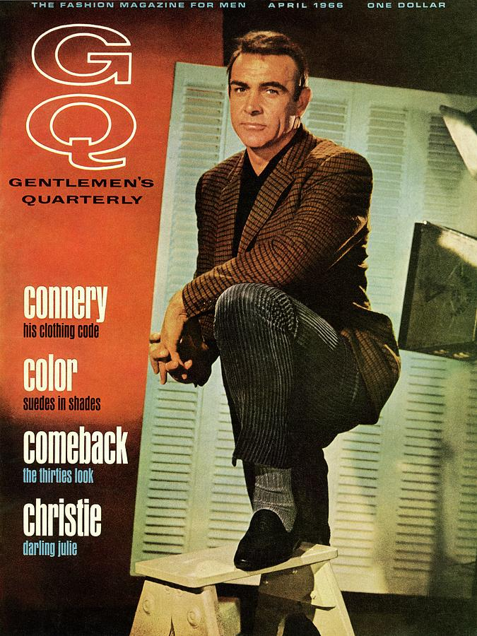 A Gq Cover Of Sean Connery Photograph by David Sutton