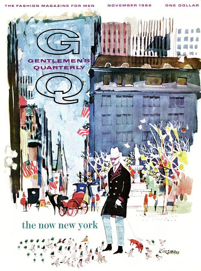 A Gq Cover Of The Plaza Hotel Photograph by Dong Kingman