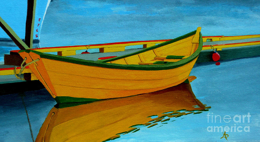 A Grand Banks Dory Painting By Anthony Dunphy
