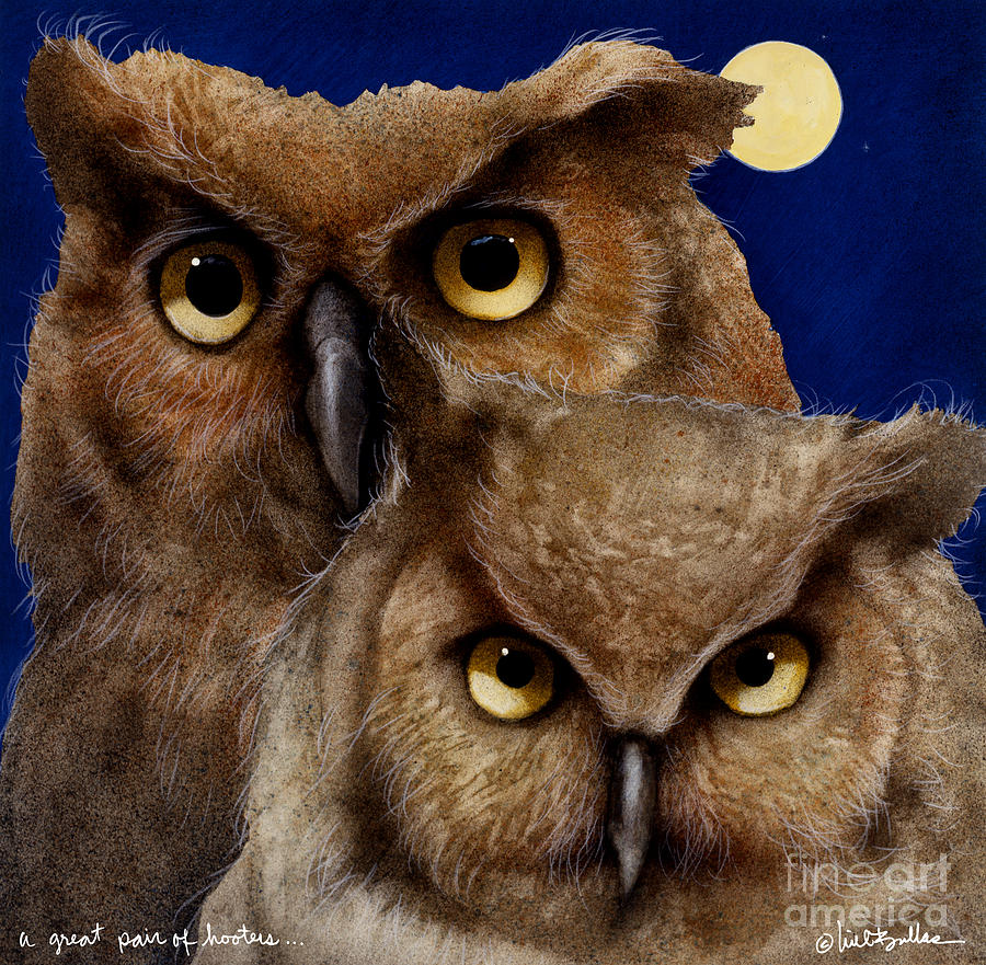 Will Bullas Painting - A Great Pair Of Hooters... by Will Bullas