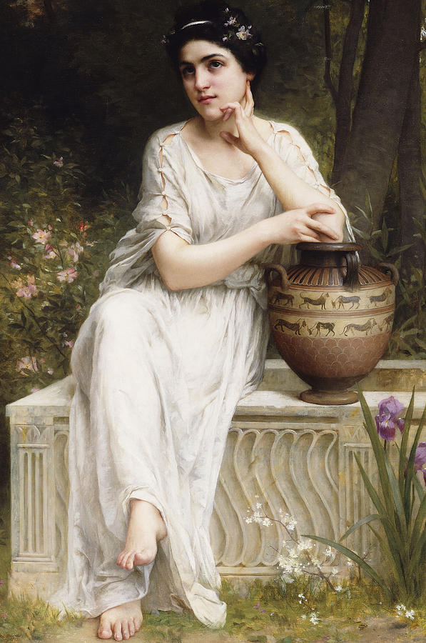Lenoir Painting - A Grecian Beauty by Charles Amable Lenoir