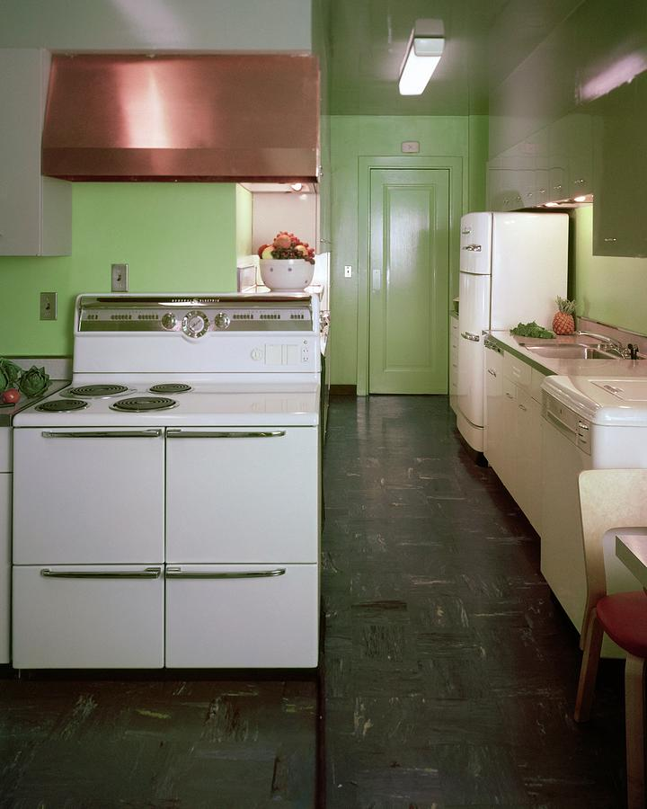 A Green Kitchen Photograph by Constantin Joffe