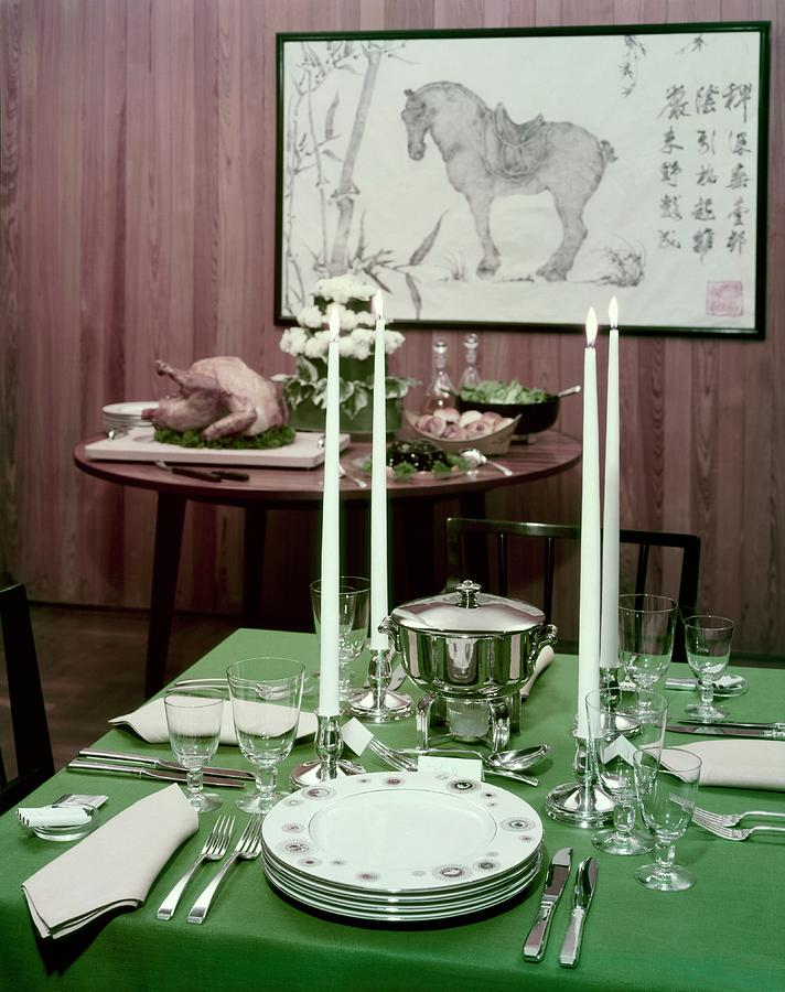A Green Table Photograph by Wiliam Grigsby