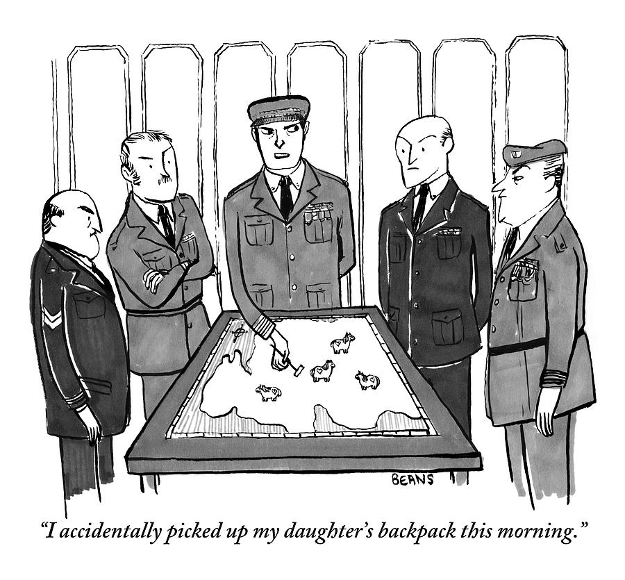 A Group Of Generals Are Seen In The War Room Drawing by Kate Beaton