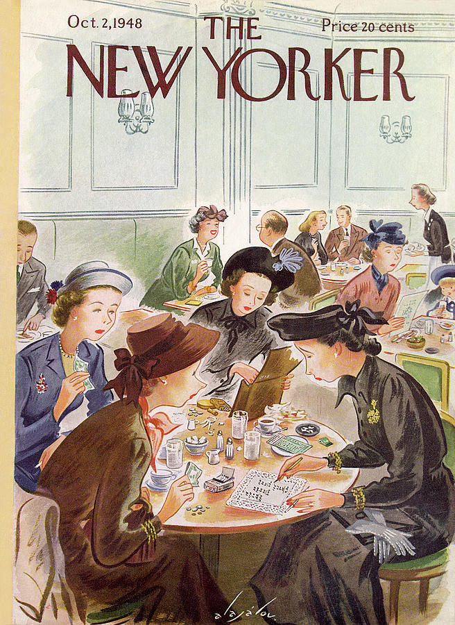New Yorker October 2, 1948 Painting by Constantin Alajalov