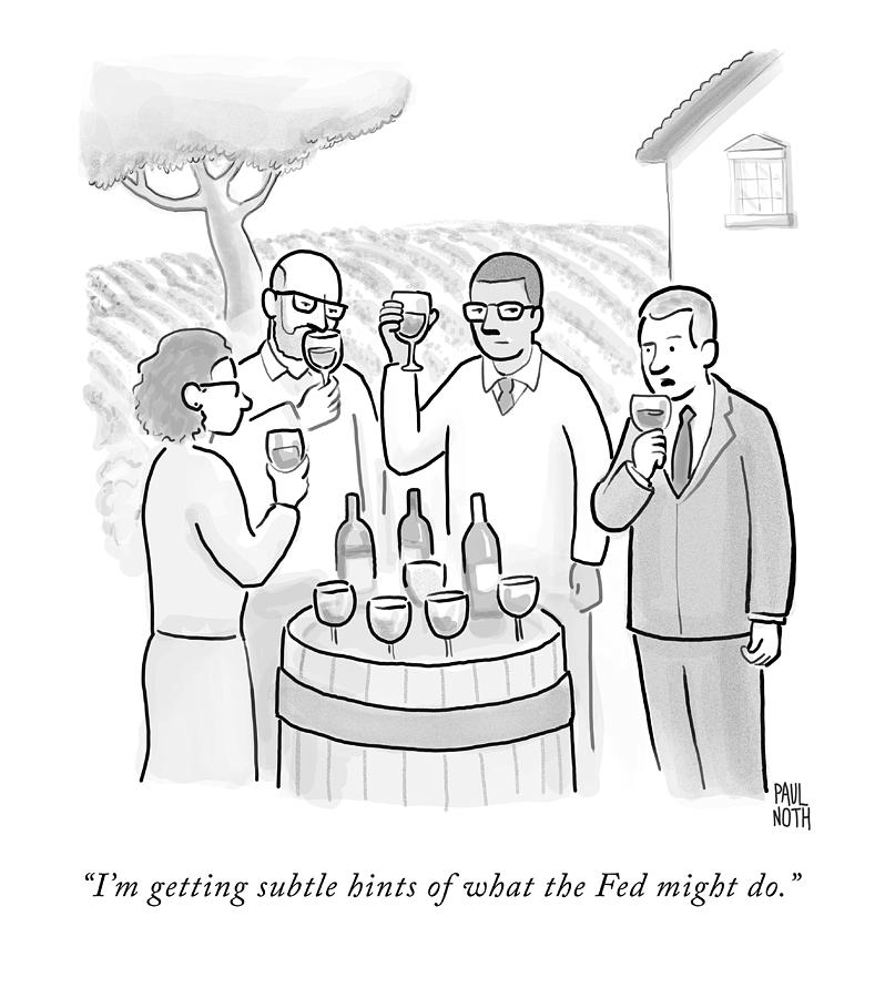 A Group Sample Wine At A Wine Tasting Vineyard Drawing by Paul Noth
