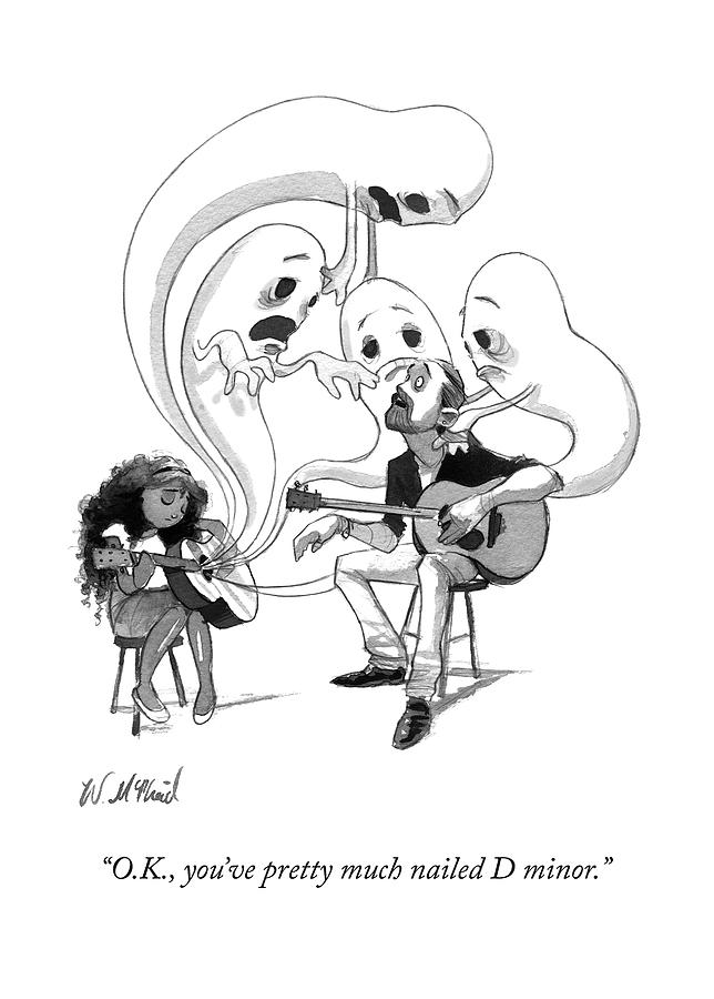 A Guitar Teacher Speaks To His Student Drawing by Will McPhail