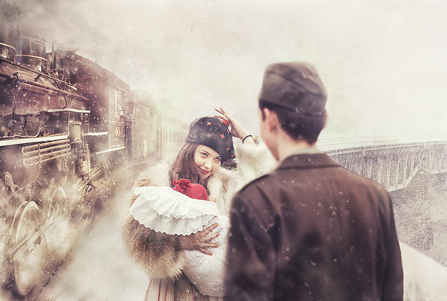 Train Photograph - A Happy Homecoming by Stanislav Hricko