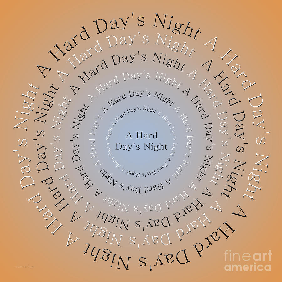 Andee Design Digital Art - A Hard Days Night 3 by Andee Design