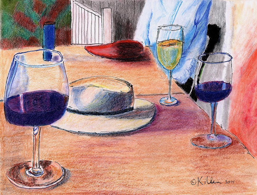 Modern Painting - A Hat And Wine by William Killen