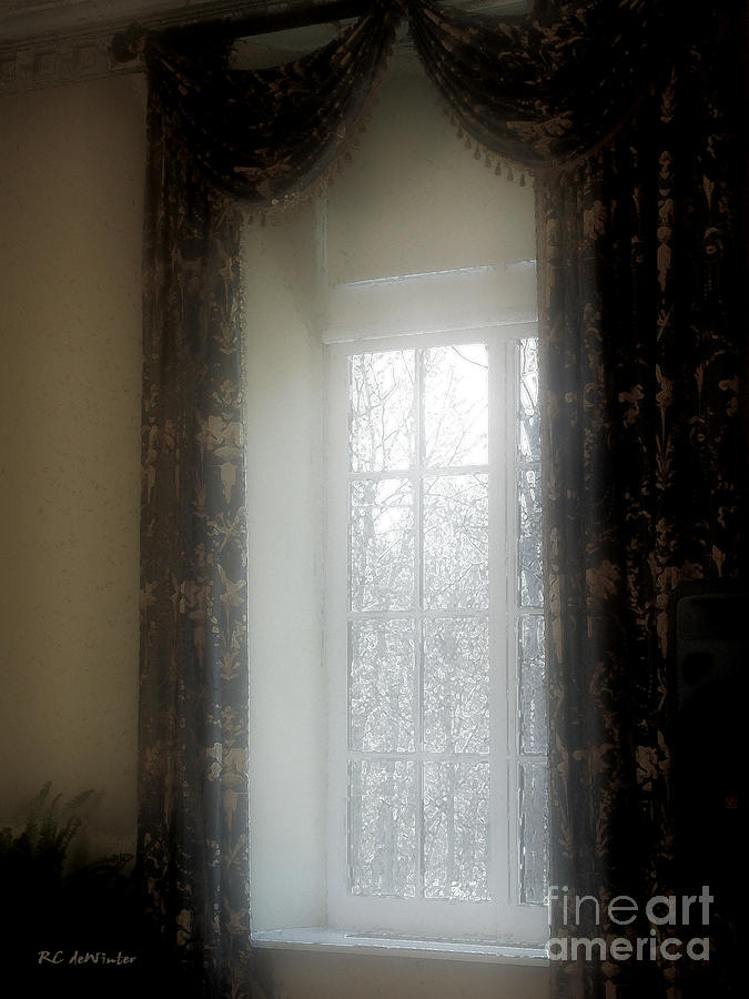 Curtains Painting - A Hazy Shade Of Winter by RC DeWinter