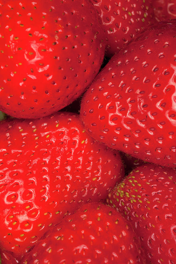 A Heap Of Strawberries, Close-up, Full Photograph by Larry Washburn