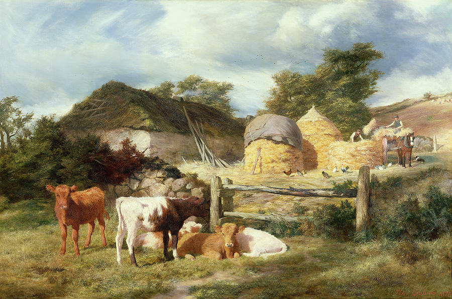Scottish Painting - A Highland Croft, 1873 by Peter Graham
