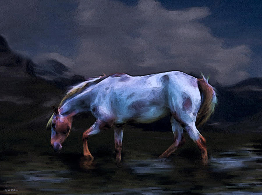 Horse Painting - A Horse Of Many Colors by Tyler Robbins