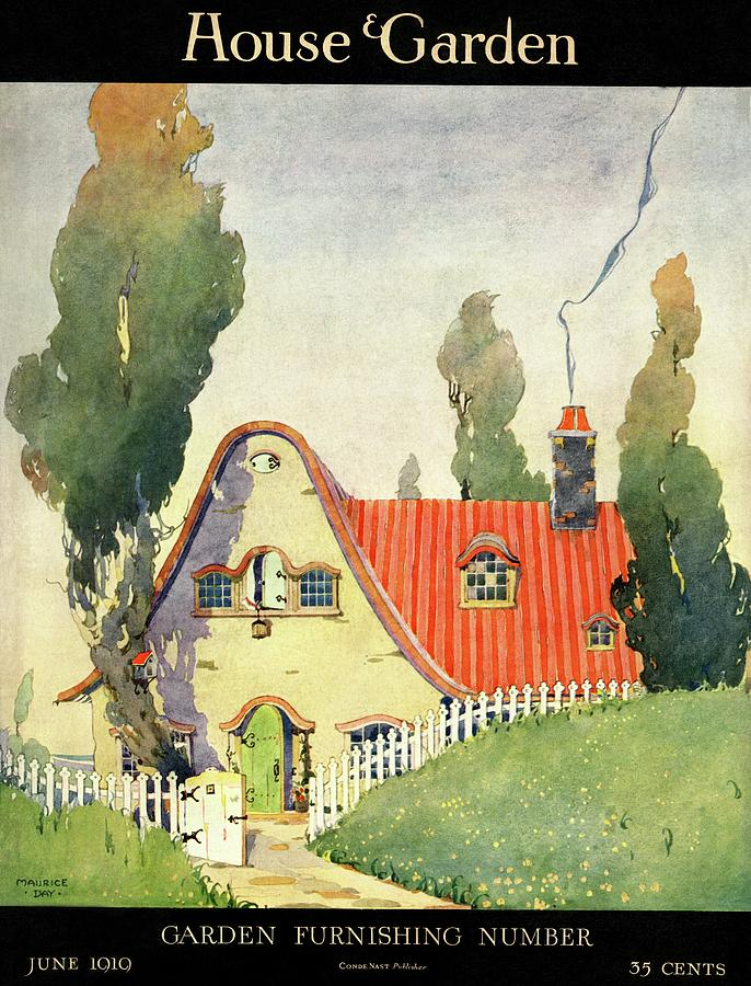 A House And Garden Cover Of A Cottage Photograph by Maurice Day