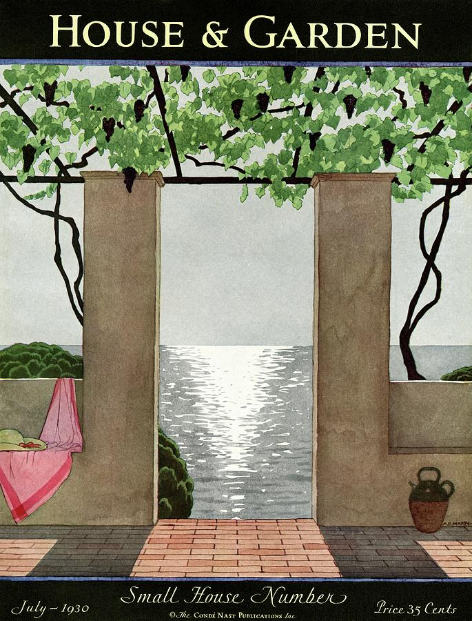 A House And Garden Cover Of A Seaside Patio Photograph by Andre E.  Marty