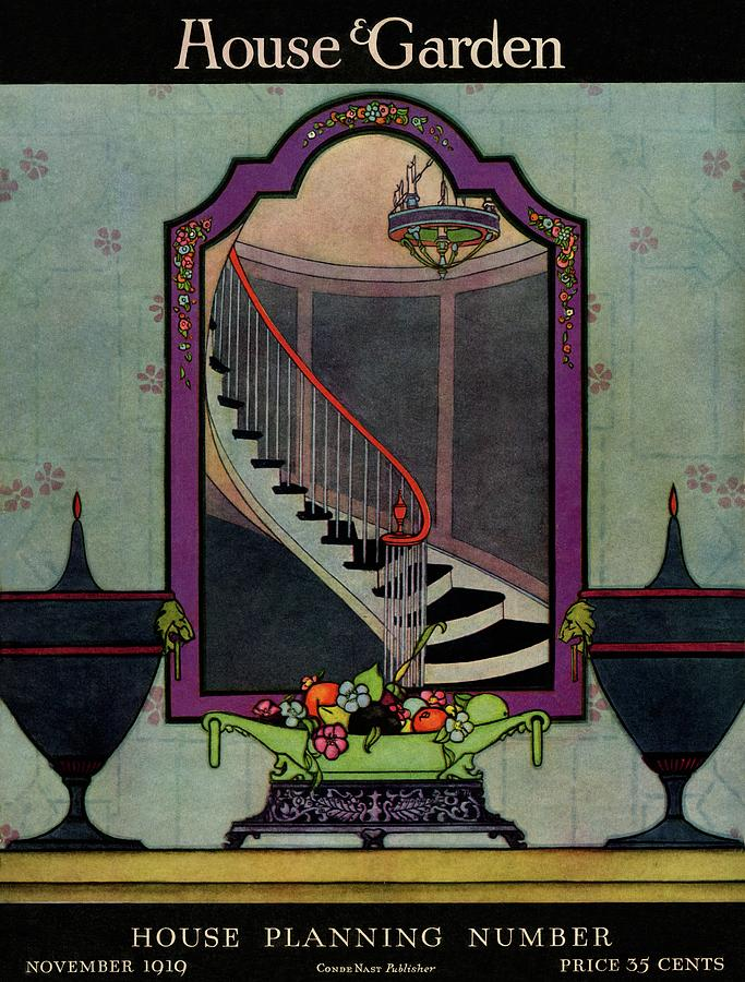 A House And Garden Cover Of A Staircase Photograph by Harry Richardson