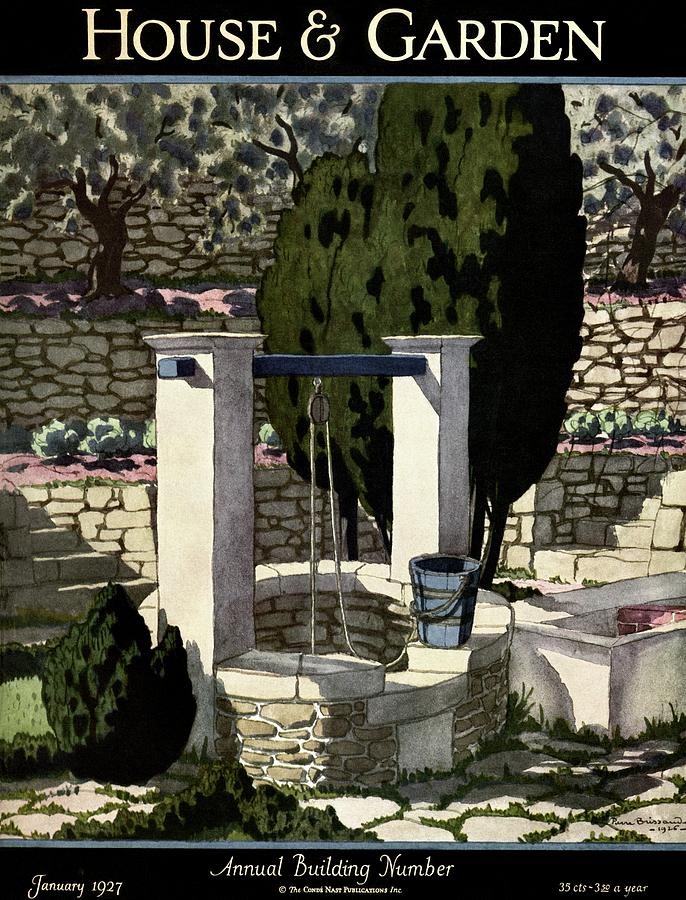 A House And Garden Cover Of A Well Photograph by Pierre Brissaud