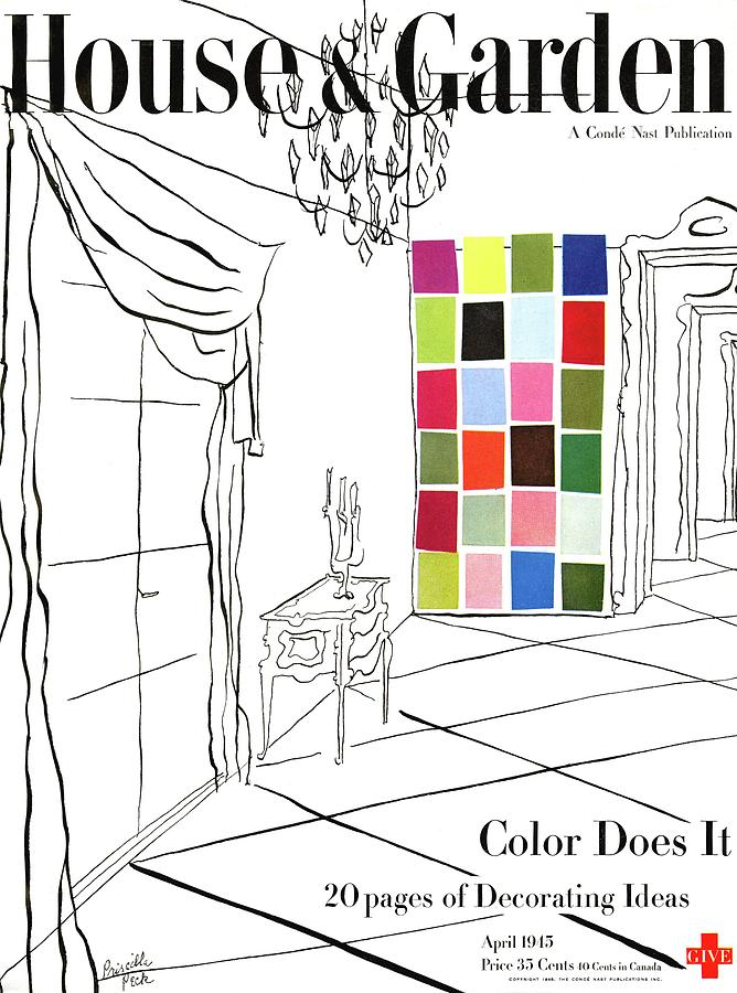 A House And Garden Cover Of Color Swatches Photograph by Priscilla Peck