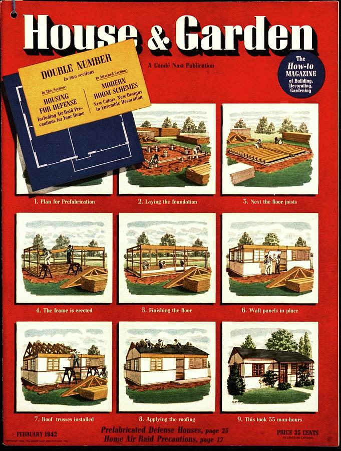 A House And Garden Cover Of Construction Stages Photograph by Robert Harrer