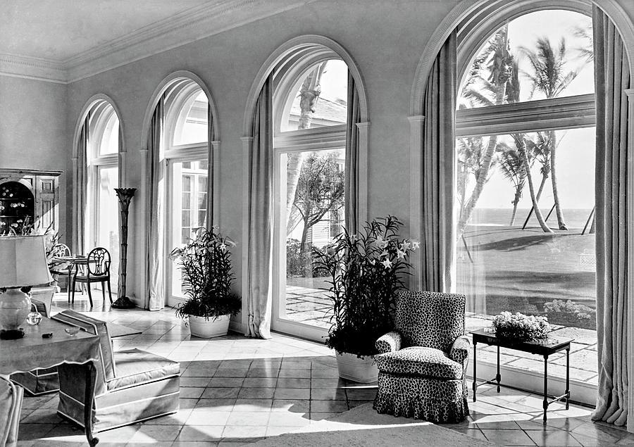 A House In Palm Beach Photograph by Samuel H. Gottscho
