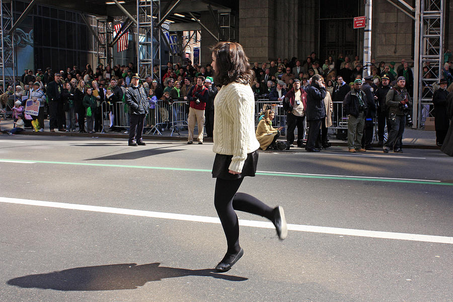 Dancer Photograph - A Irish Dancer Doing Some Dancing At The 2009 St. Patrick Day Parade by James Connor