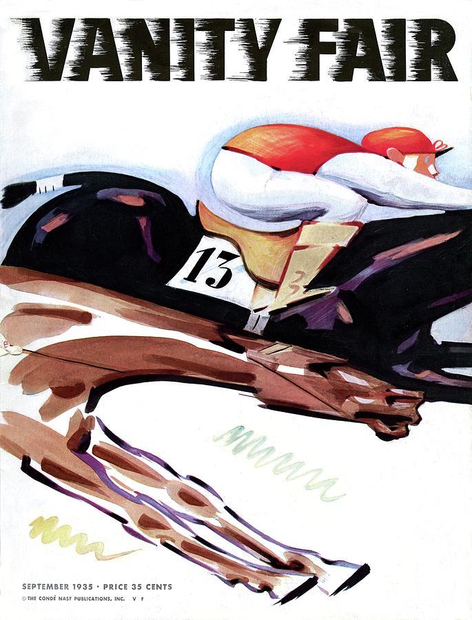 A Jockey And Horse Photograph by Charlot