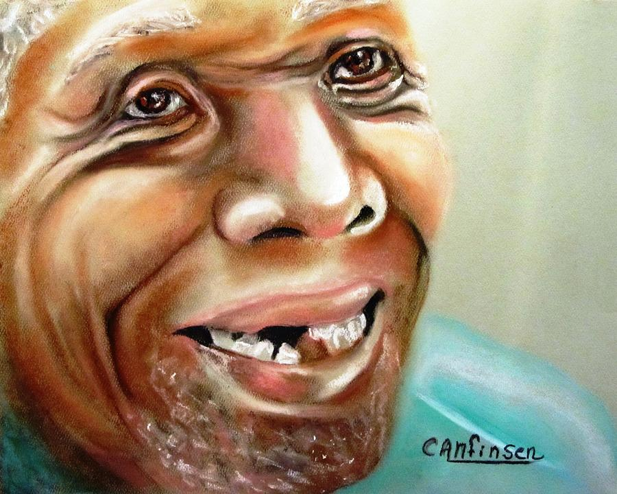 Old Man Drawing - A Joyful Heart by Carol Allen Anfinsen