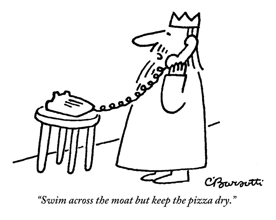 A King Gives Instructions On The Telephone Drawing by Charles Barsotti